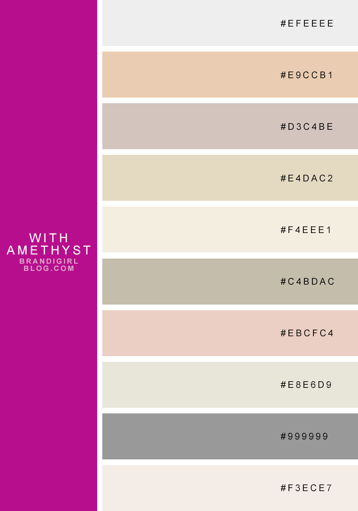 Favorite quasi neutrals 7 amethyst projects to try in - Color scheme generator interior design ...