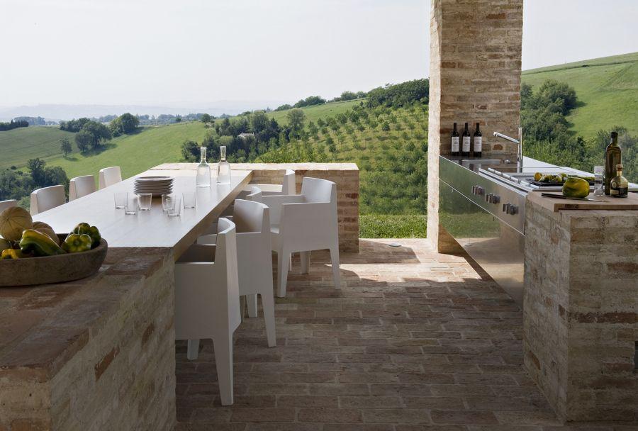 Cocina exterior terrazas Pinterest