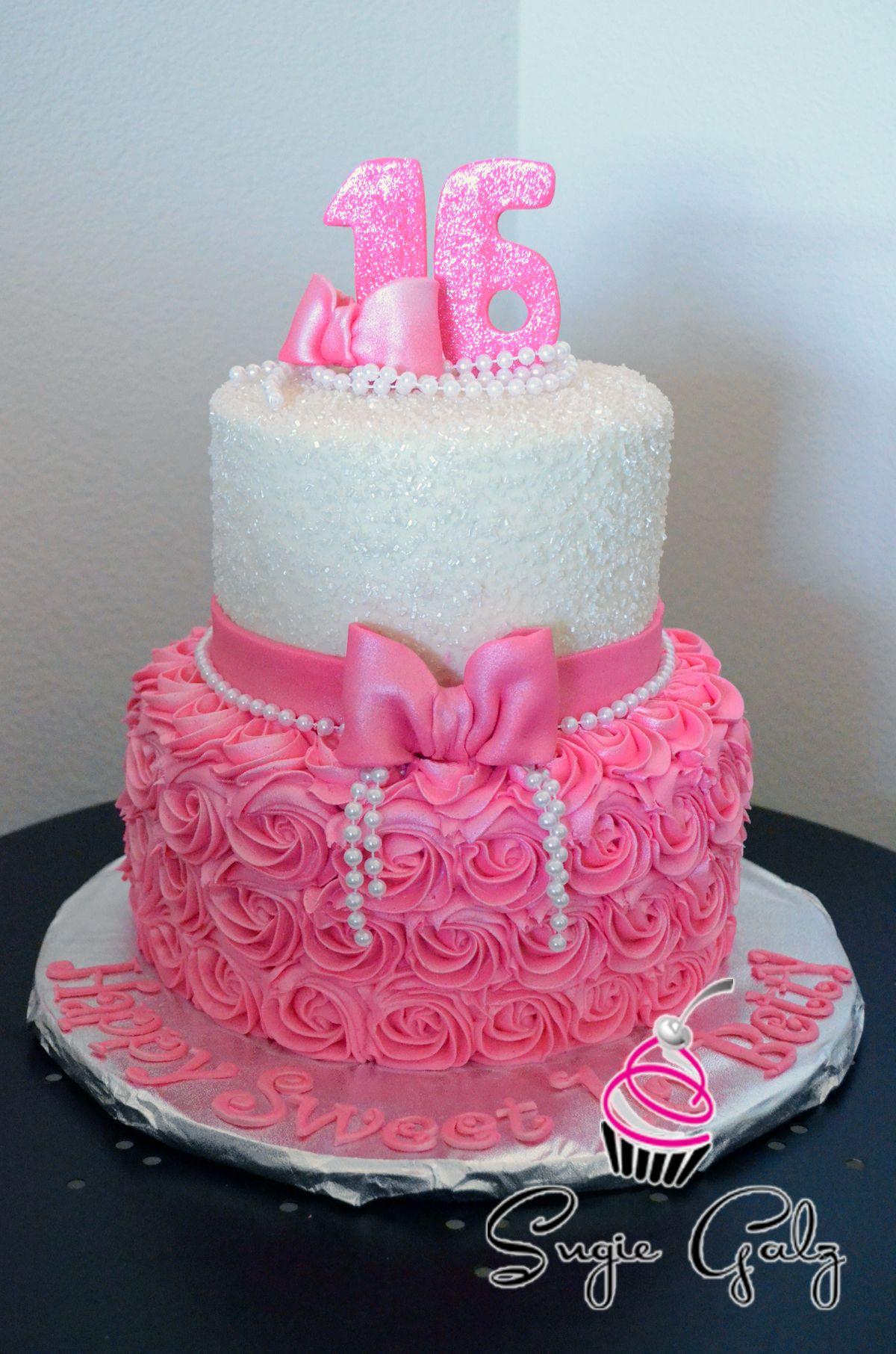 Sweet 16 Birthday Cake Fun by Sugie Galz in Austin Texas Birthday