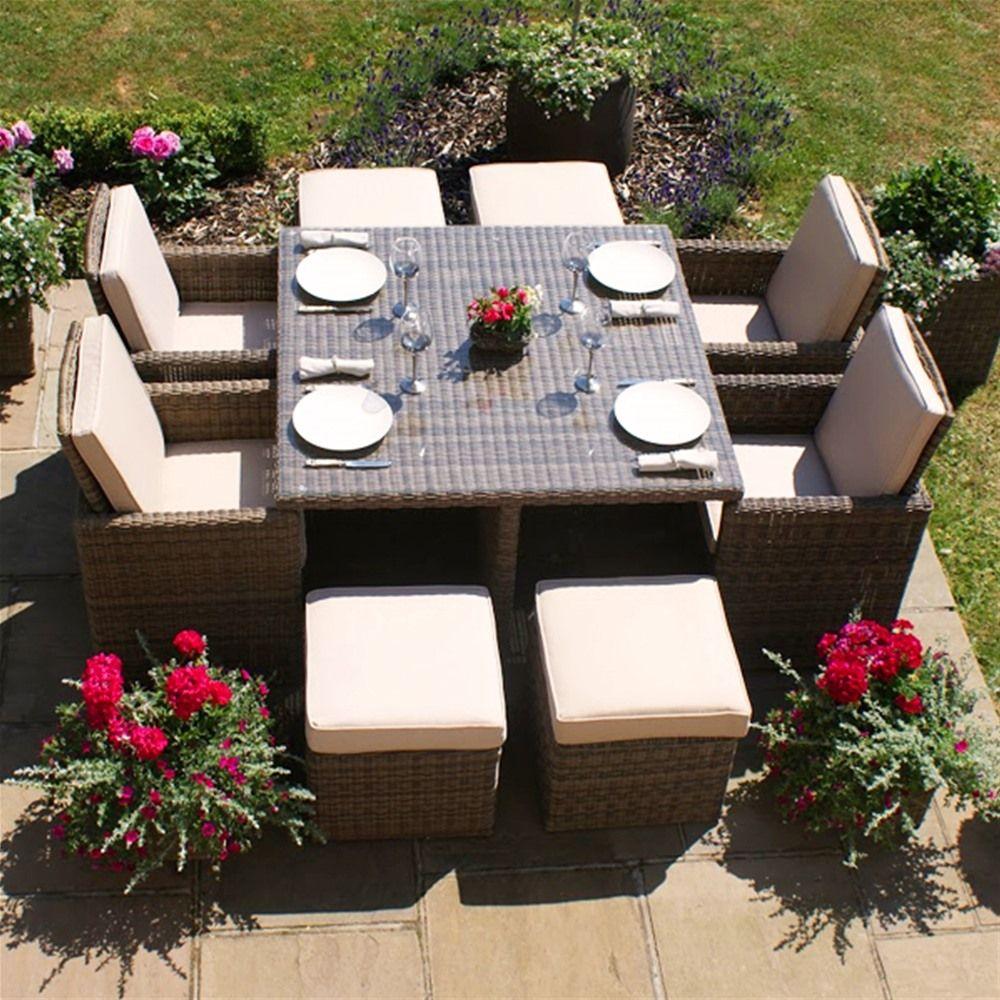 Maze Rattan Winchester 5 Piece Garden Furniture Cube Set