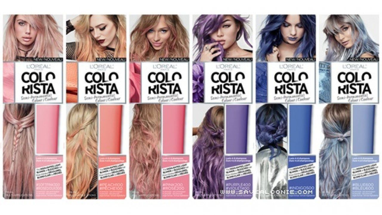 Loreal Colorista 1 2 Week Washout Temporary Hair Dye Blue Pink Peach Red Purpl Washable Hair Color Temporary Hair Dye Hair Color Reviews
