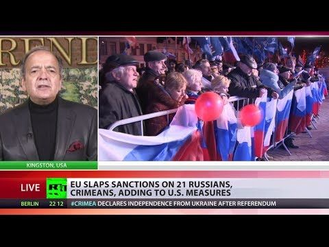 Celente: Sanctions against Russia over Crimea are toothless - http://thedailynewsreport.com/2014/03/30/top-news-videos/world-news-videos/celente-sanctions-against-russia-over-crimea-are-toothless/