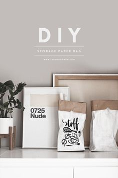Delicieux DIY // STORAGE PAPER BAG