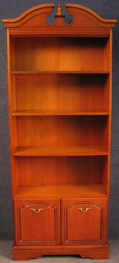 Younger French Style Tall Cherry Wood Bookcase Bookshelves On Cupboard Wood Bookcase Bookcase Cherry Wood