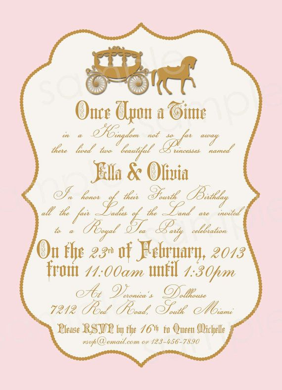 Royal Princess Birthday Party Invitation DIY By Modpoddesigns - Royal birthday invitation template