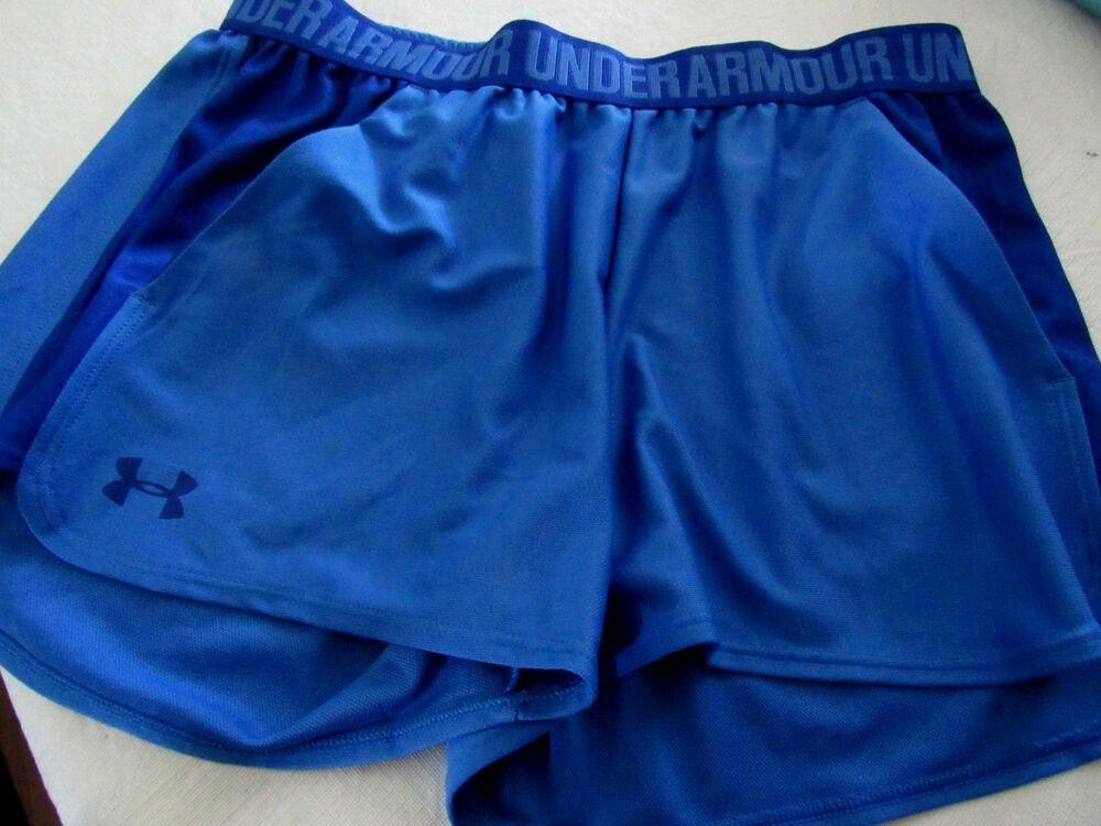 Womens Under Armour Royal Blue Shorts NEW running Size Medium