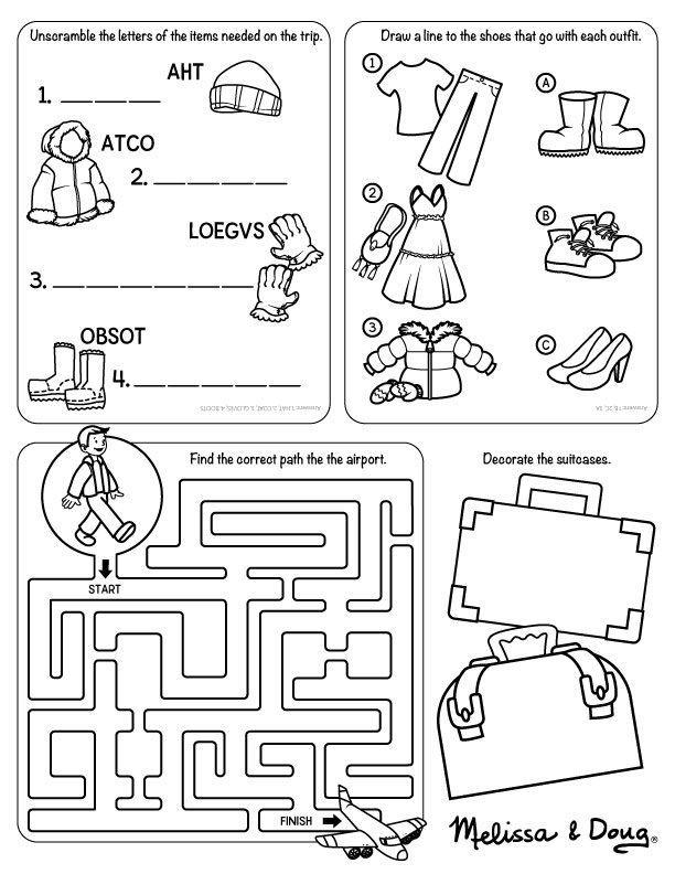 Travel Printable For Kids Travel Printables Worksheets For Kids Kindergarten Worksheets Travel worksheets for kindergarten