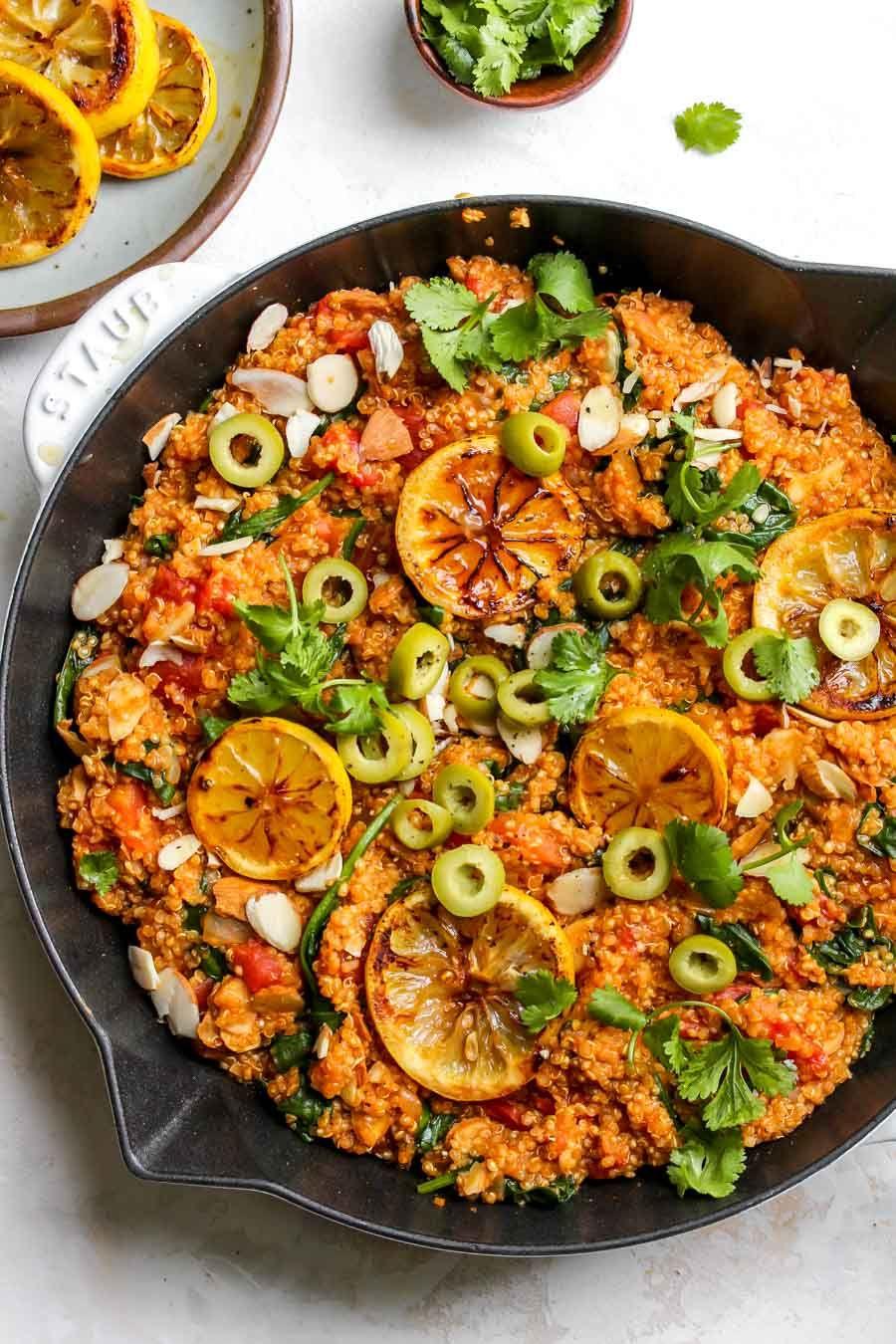 One Pot Moroccan Quinoa Vegan Gluten Free Recipe Healthy Recipes Vegetarian Recipes Quinoa Dishes