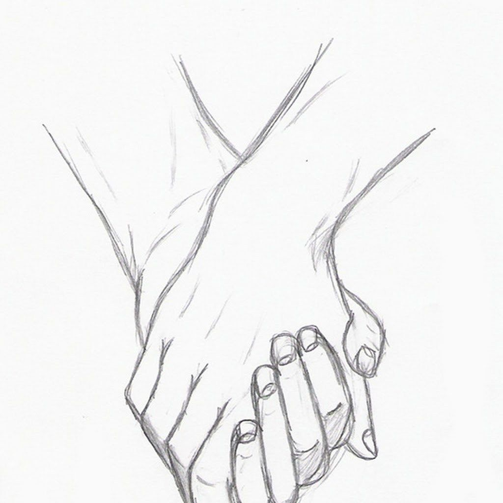 Cute Couples Hands Drawings Black And White