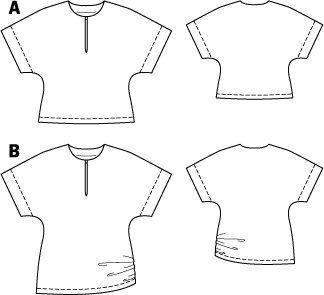 Split Neck Top 08/2014 #108A – Sewing Patterns | BurdaStyle.com