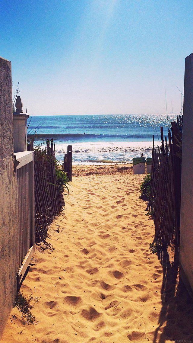 Mq82 Way To Sea Sand Ocean Beach Nature Wallpaper Paisagem Imagem De Tela Melhores Imagens