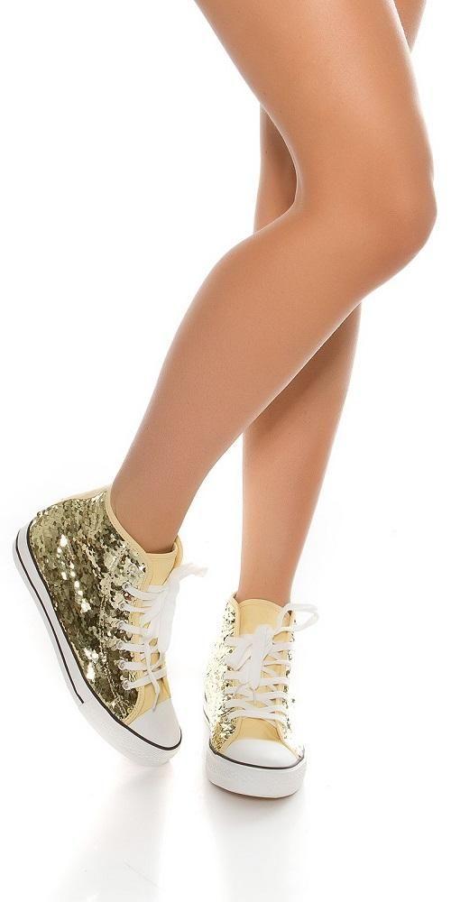 Zapatillas de lentejuelas doradas | Lentejuelas doradas
