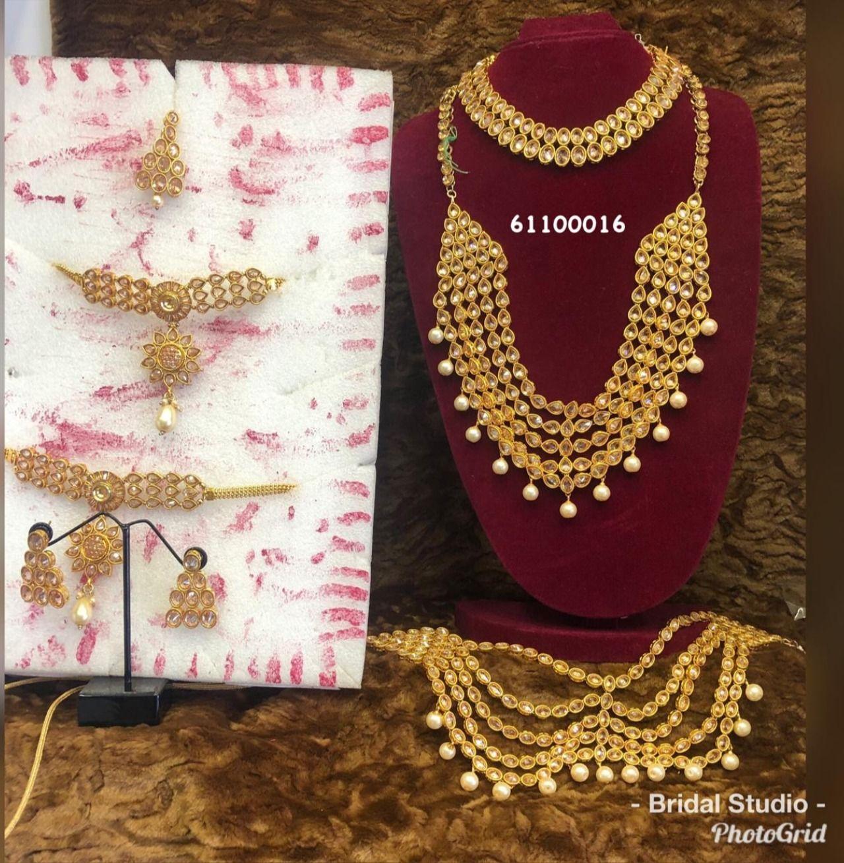 Jewellery Rental In 2020 Pearl Bridal Set Bridal Pearls Bridal Sets