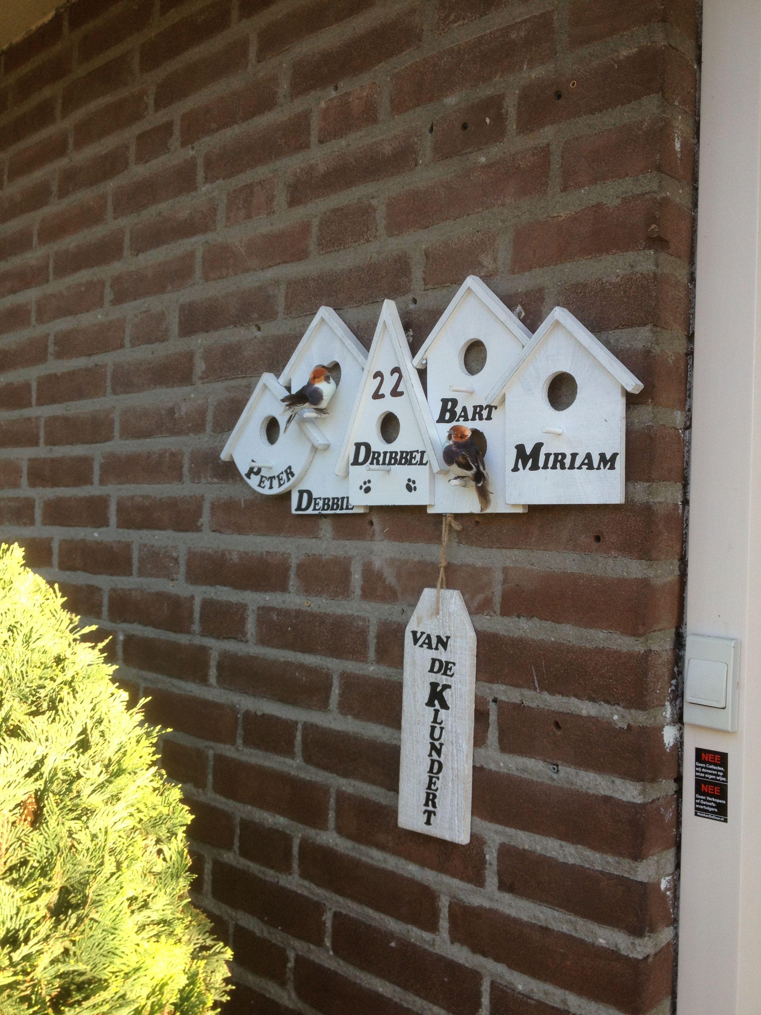 Uitzonderlijk Naambordje voordeur | działka - DIY home crafts, Home crafts en &HW09