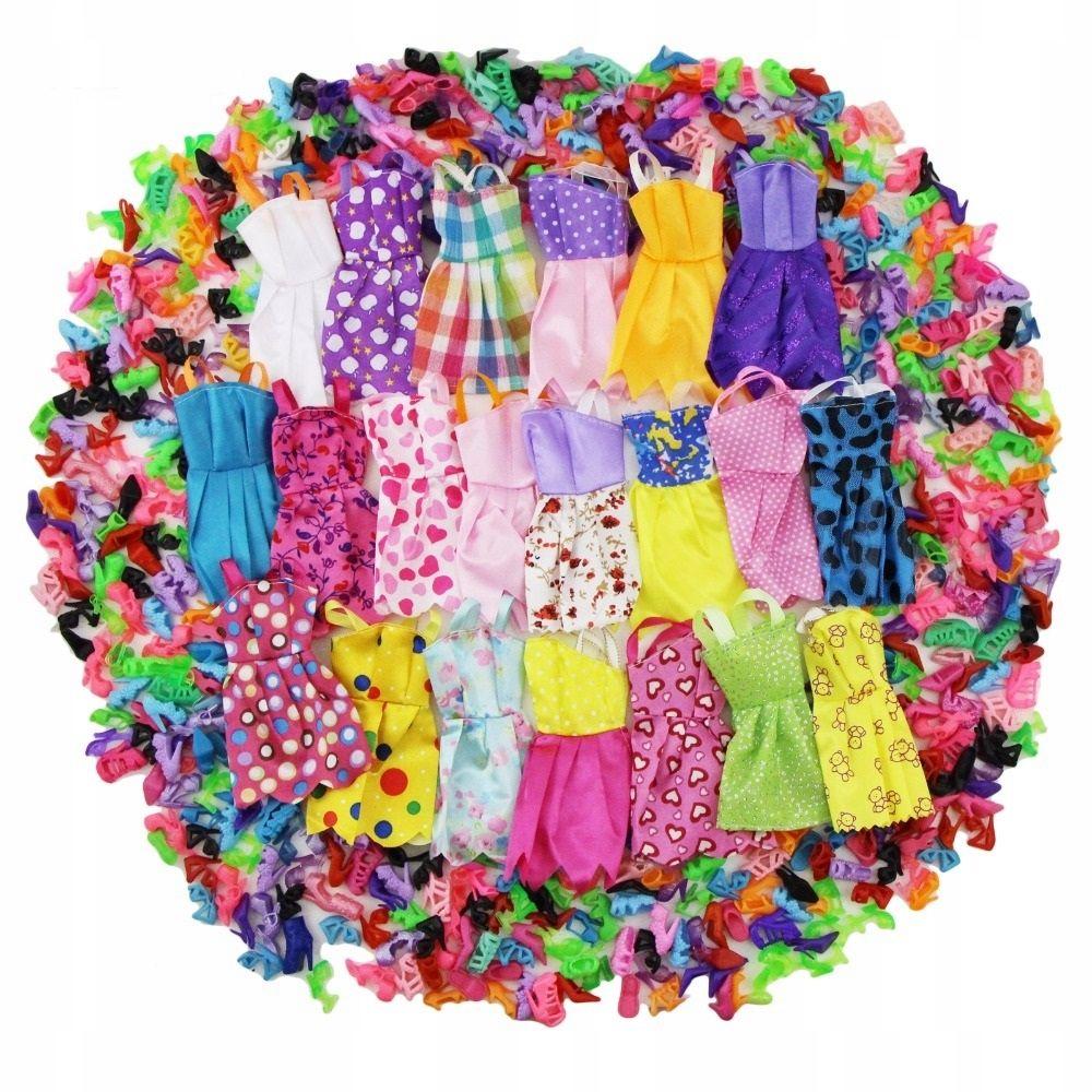 Zestaw 24 Sztuk Sukienki I Buciki Dla Lalki Barbie Lalki Barbie