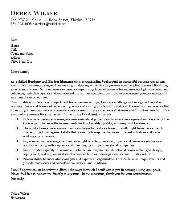 Cover Letter For Resume, Job