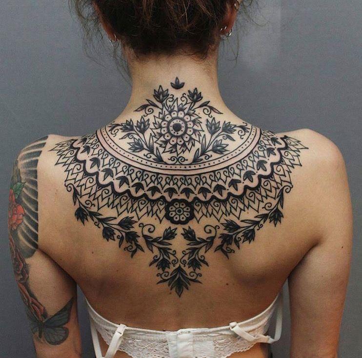 Tattoo halskette mann