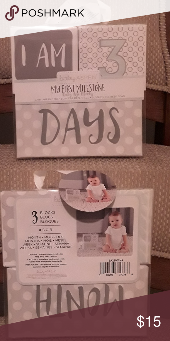 Milestone Blocks Milestone Blocks Milestones Baby Aspen