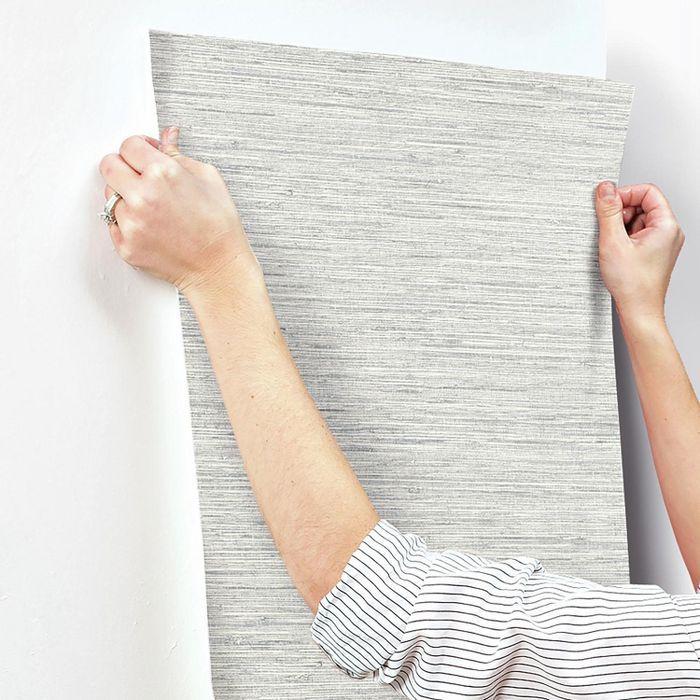 Grasscloth Peel & Stick Wallpaper Blue RoomMates in 2020