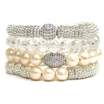 7c012 37aa6 Silvery Pearl Crystal Stac... from siscoberluti.com on Wanelo.  ... acd681298