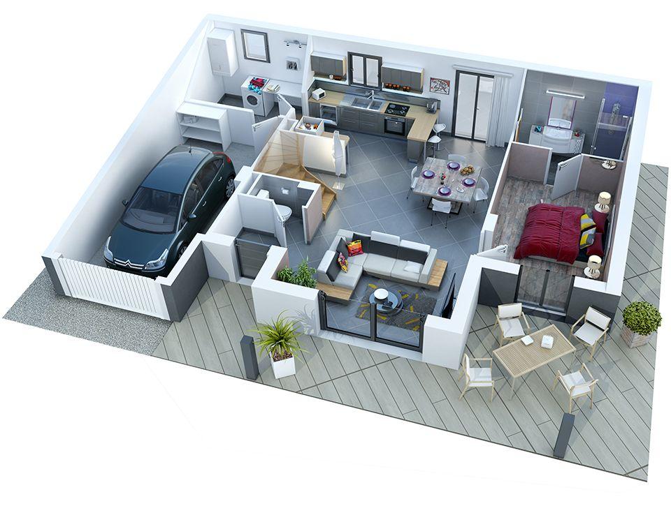 athena-rdc_bd_rvb72jpg Maison à étage Pinterest