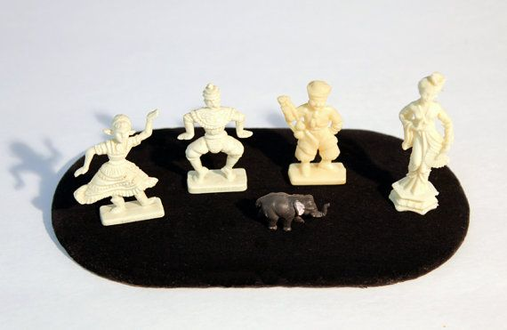 International Dancing Figurines and Elephant by MerelyEclectic, $7.00