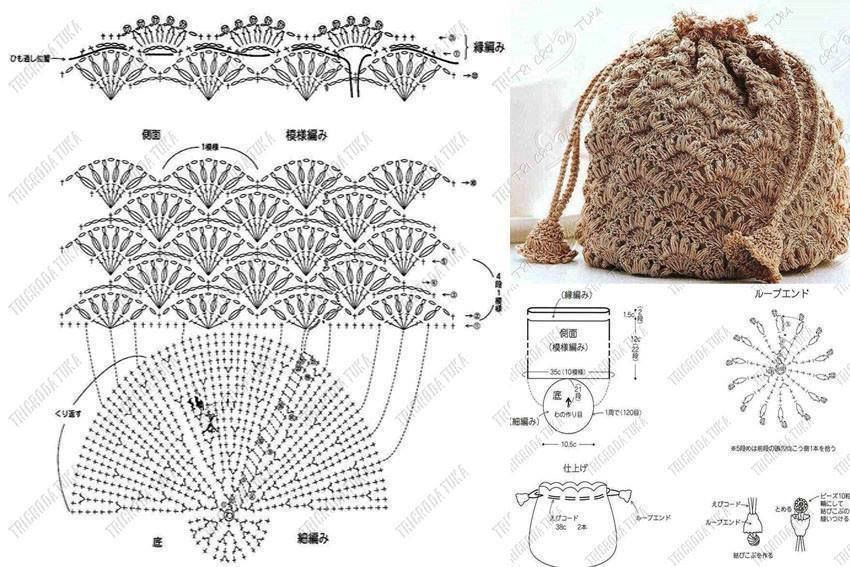 ergahandmade: 15 Crochet Bags + Diagrams | crochet | Pinterest ...