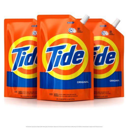Tide Smart Pouch Original Scent He Turbo Clean Liquid Laundry