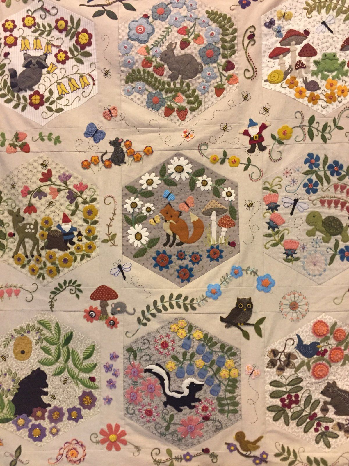 Woodland Whimsy Bom Wool Applique Quilts Wool Quilts