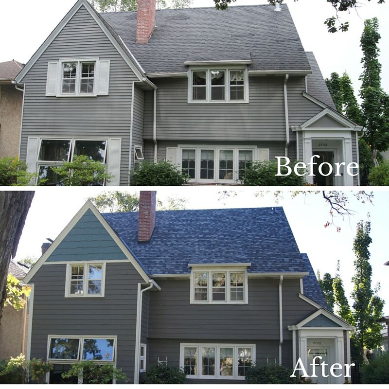 Before And After Of Twin Cities Remodel Roofing And Siding Trinity Exteriors Inc Roofing Outdoor Decor Remodel