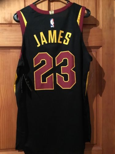 fac6b13df9fb Nike LeBron James Cleveland Cavaliers Nike Authentic Statement Jersey Sz 44  NEW (eBay Link)