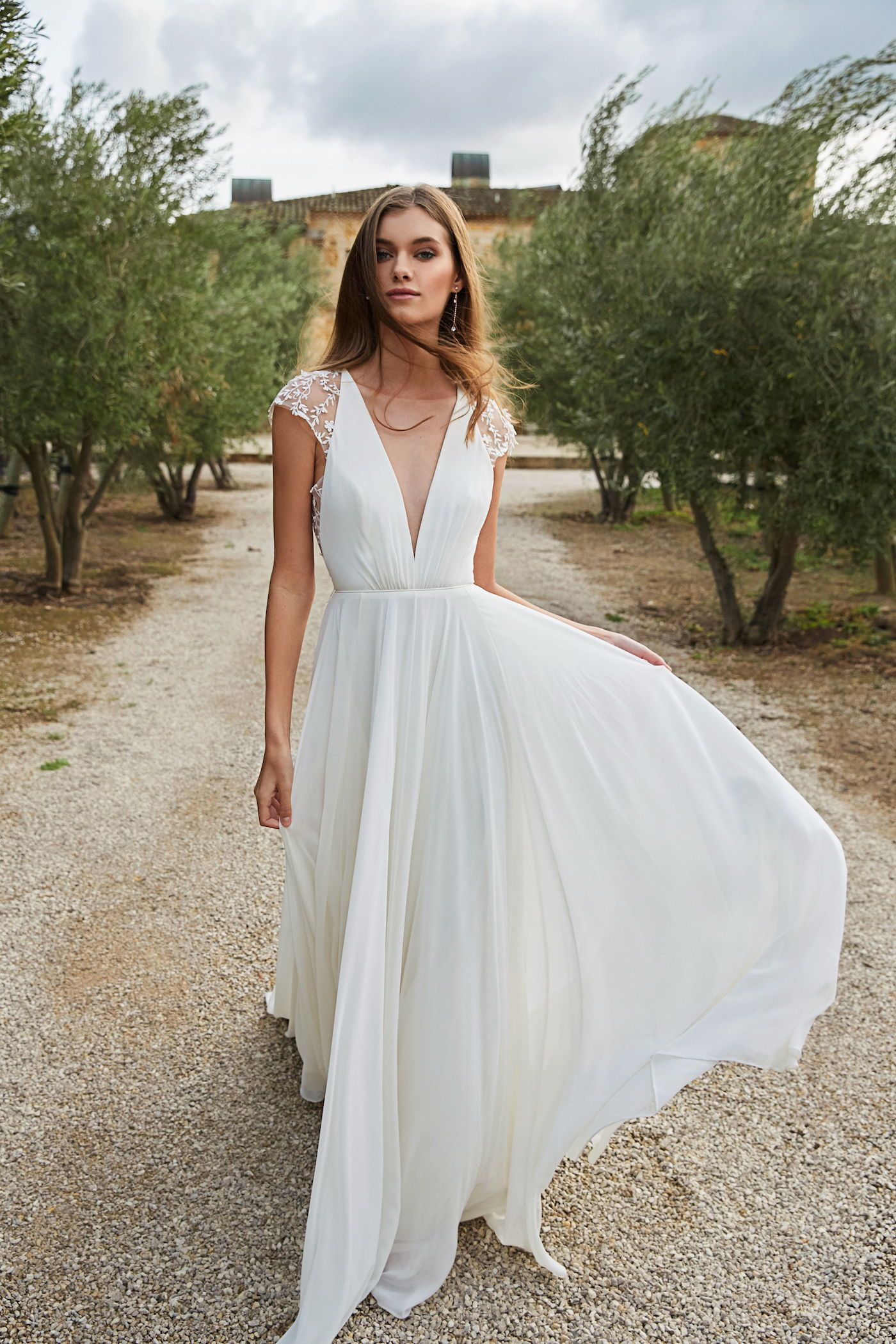 Lace Cap Sleeves A Easy Fitting Silhouette And Breezy Beautiful Skirt The Tegan Gown By In 2020 Bohemian Wedding Gown Beach Wedding Dress Lace Wedding Dress Country,Bling Gorgeous Mermaid Wedding Wedding Dresses