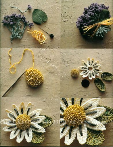 """Gorgeous #Beaded #Crochet #Flower! There are no charts or instructions at the link, just inspiration. I'm going to work ona pattern for this soon for a Springtime corsage!"" KnittingGuru"