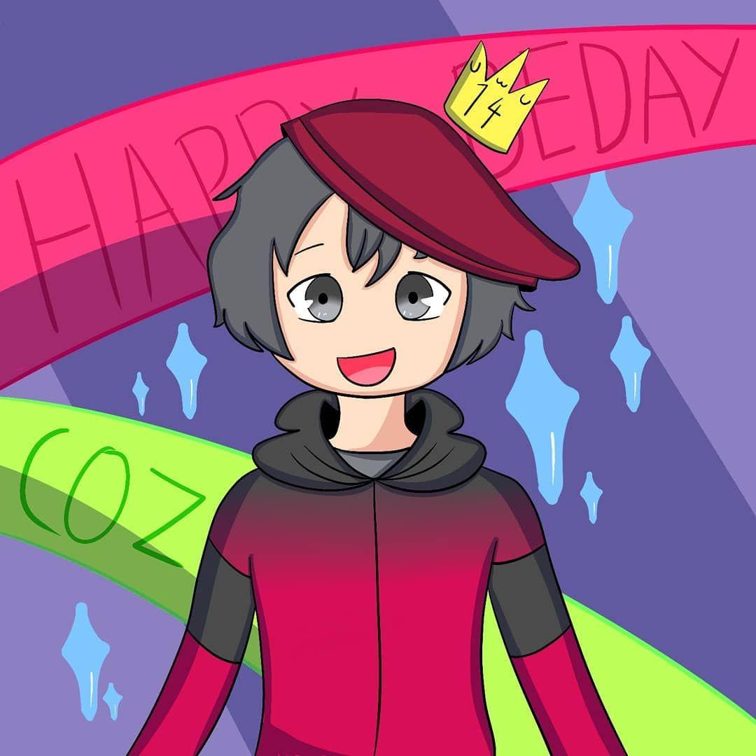 HAPPY BIRTHDAY COZZY!!! . . . . . . . . . . .  artist  artistsoninstagram  art  digitalart  xppen  xppentablet  xppeng430  birthday  birthdayart  cartoon  anime  painttoolsai