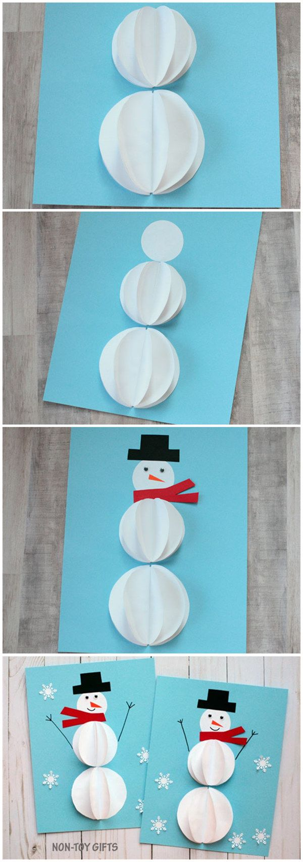 Easy paper snowman craft for kids do it yourself today easy paper snowman craft for kids solutioingenieria Image collections