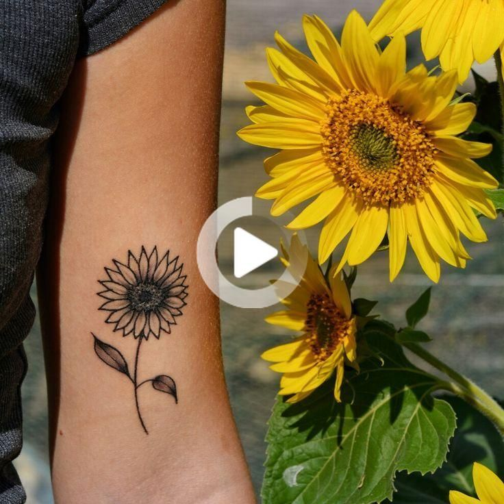 Small sunflower tattoo on the inner arm …