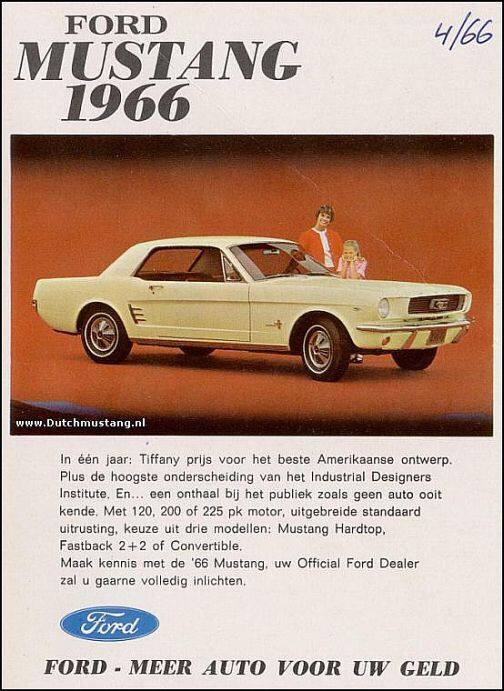 1966 mustang auto pinterest alte werbung werbung und autos. Black Bedroom Furniture Sets. Home Design Ideas