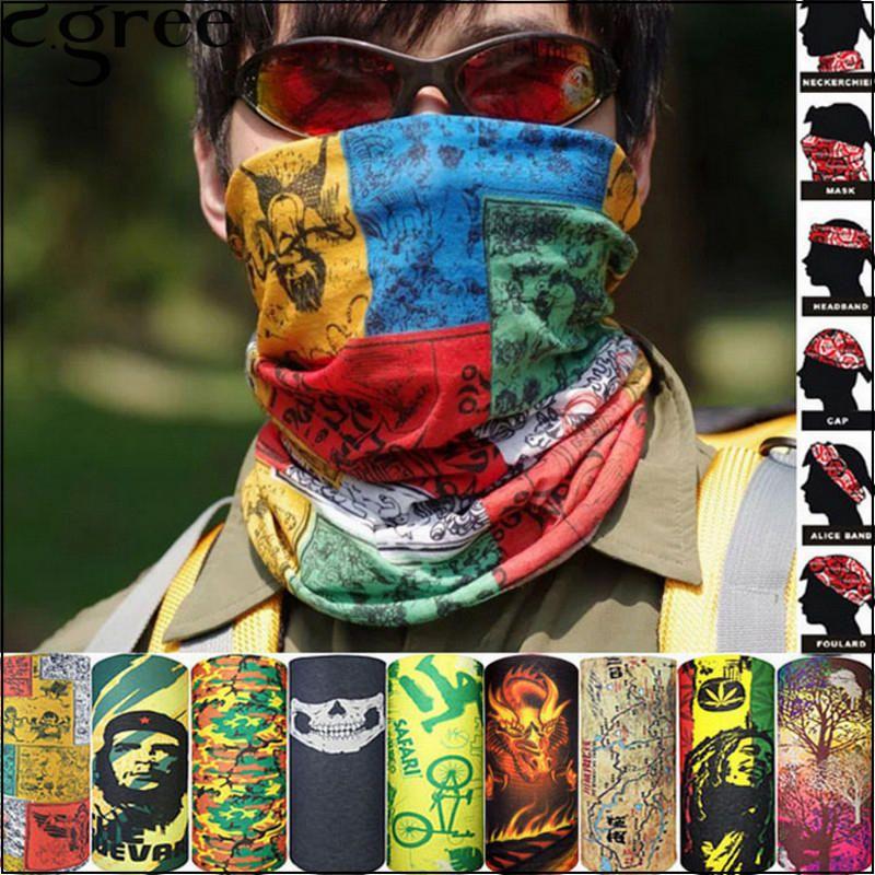 Multi use Camo Biker Balaclava Neck Tube Snood Scarf Face Mask Warmer Bandana
