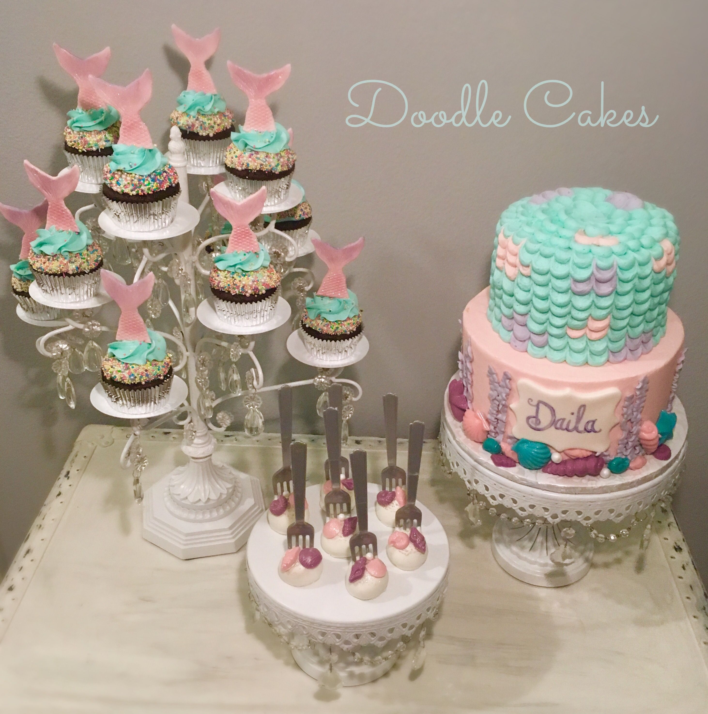 mermaid cake pops mermaid themed cake cupcakes and cake pops my cakes 5833