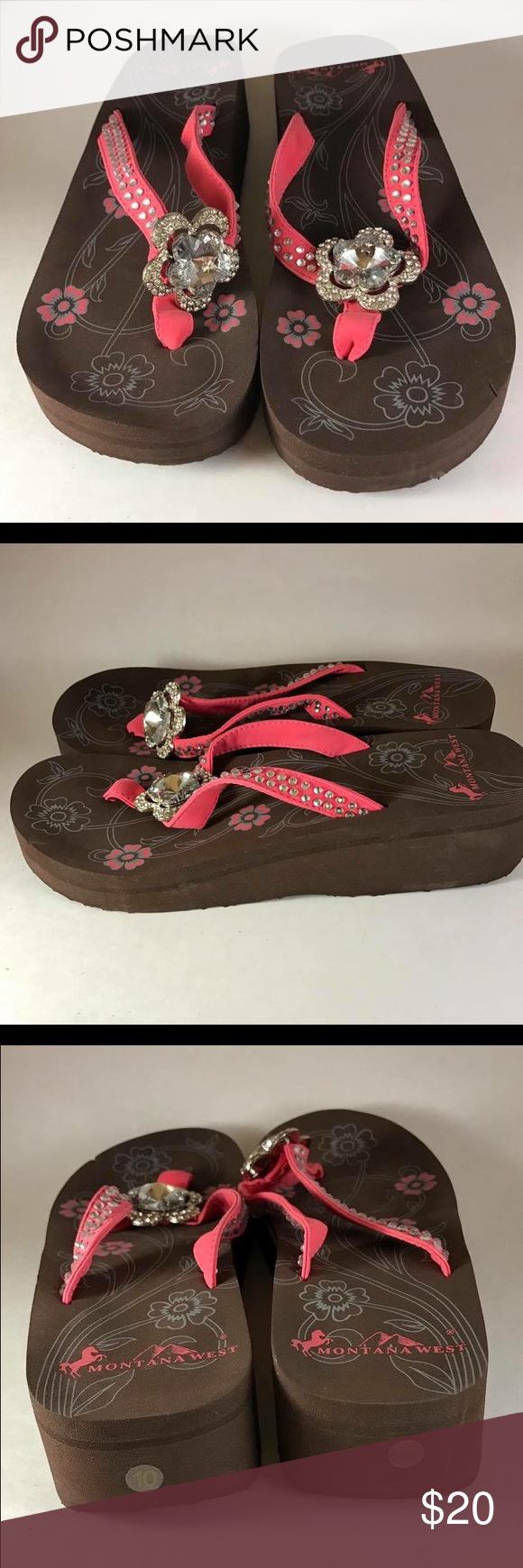 NWT Montana West Flip Flops These are NWT Montana West Boutique Flip Flops! Never been worn and comes in original box! Perfect for summer and adding a little sparkle to your day! Same day shipping!!! Montana West Shoes Sandals