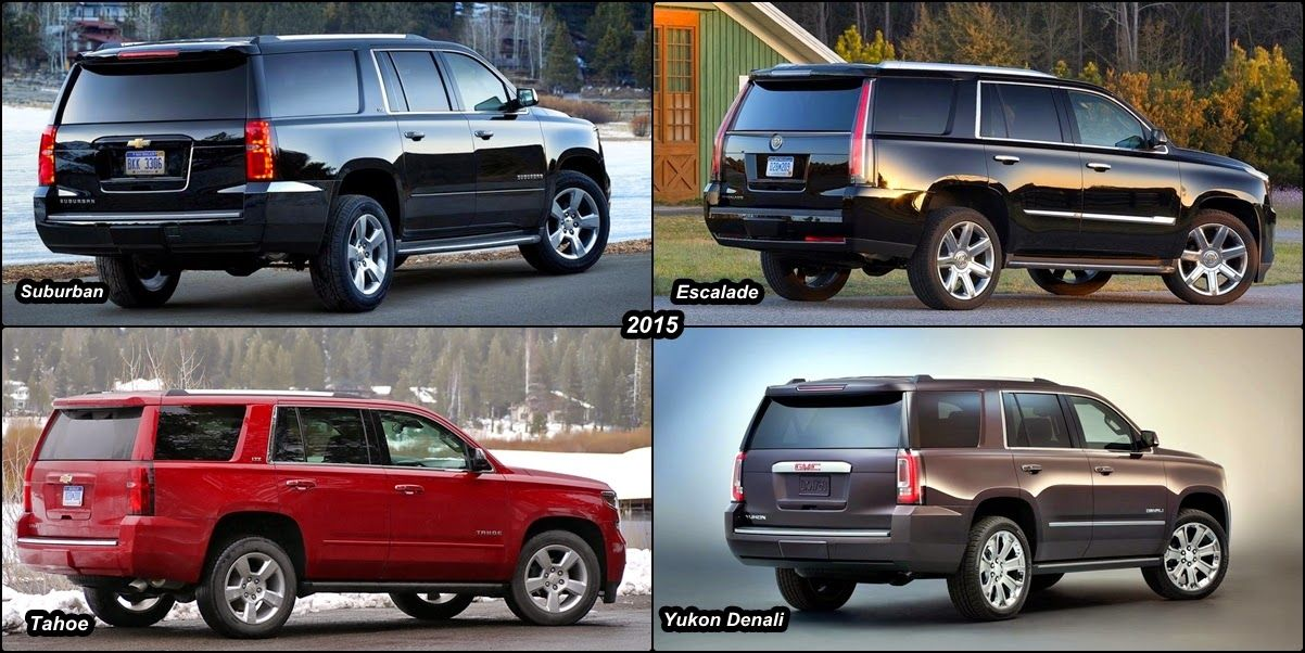 2015 Escalade Vs 2015 Chevy Suburban Vs 2015 Gmc Yukon Denali Vs