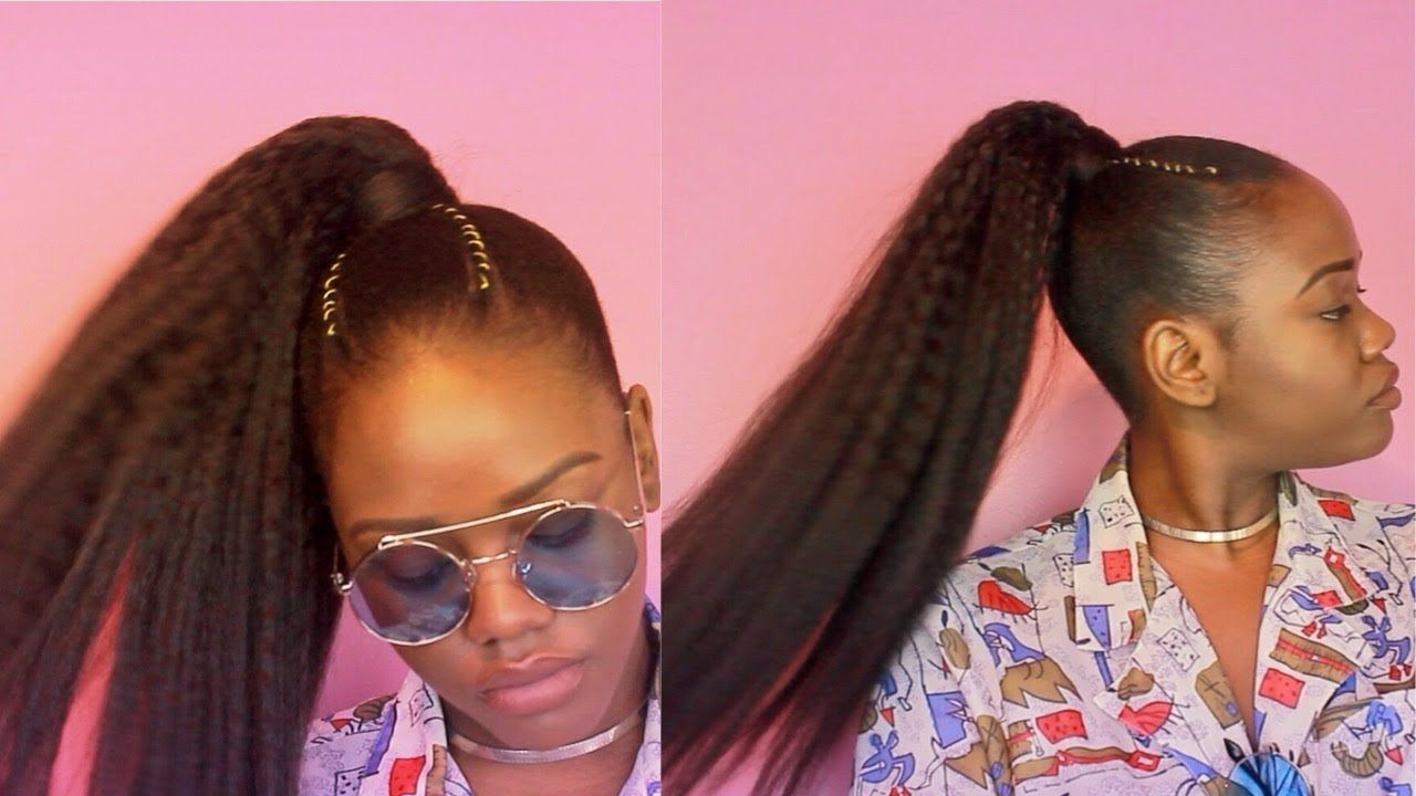 How To The Perfect Sleek High Ponytail On Natural 4c Hair 4c Hairstyles High Ponytail Hairstyles Natural Hair Ponytail