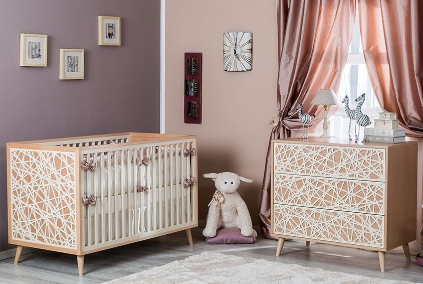 Romina New York Collection With Laser Cut Accents Modern Baby Furniture Bird Nursery