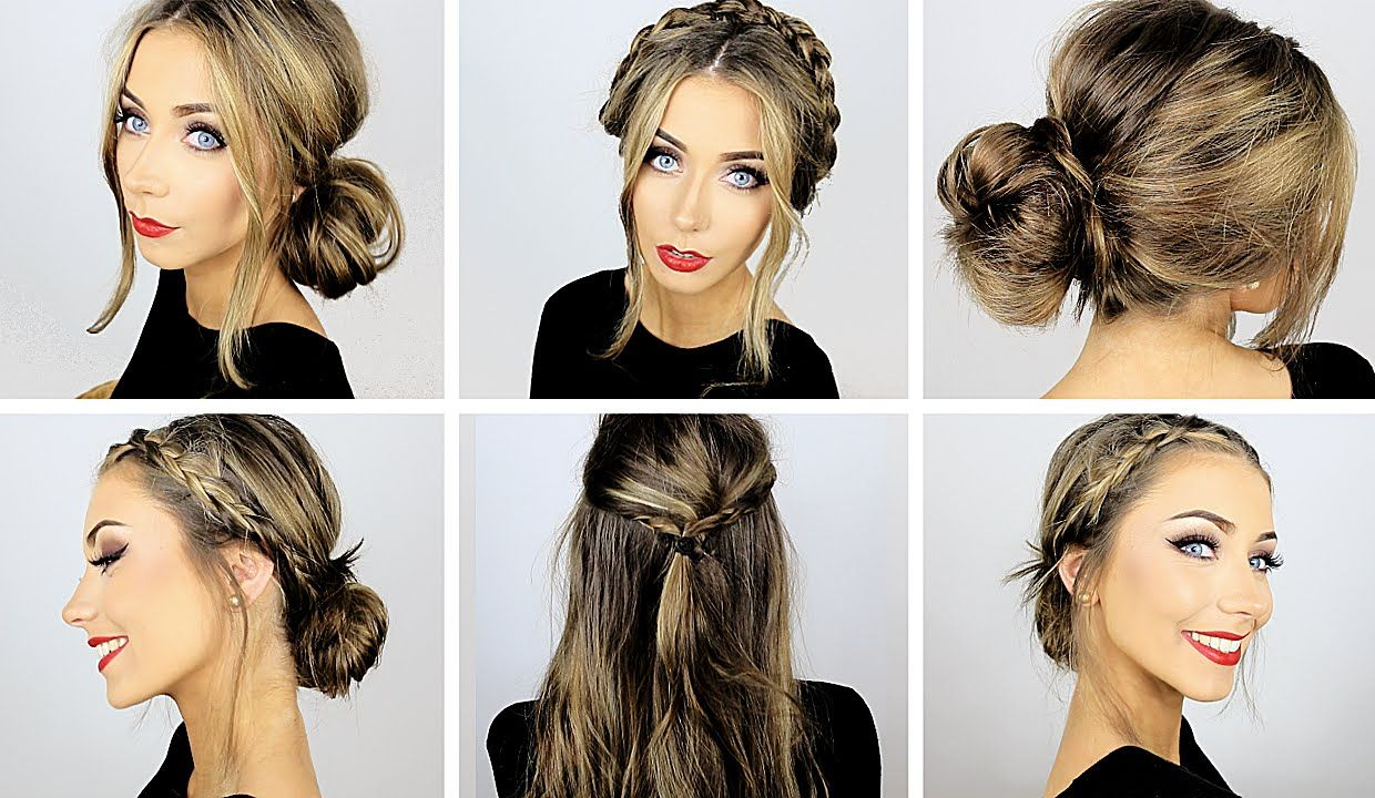 5 Easy Heatless Hairstyles for Work & School ♡ Danielle Mansutti ...