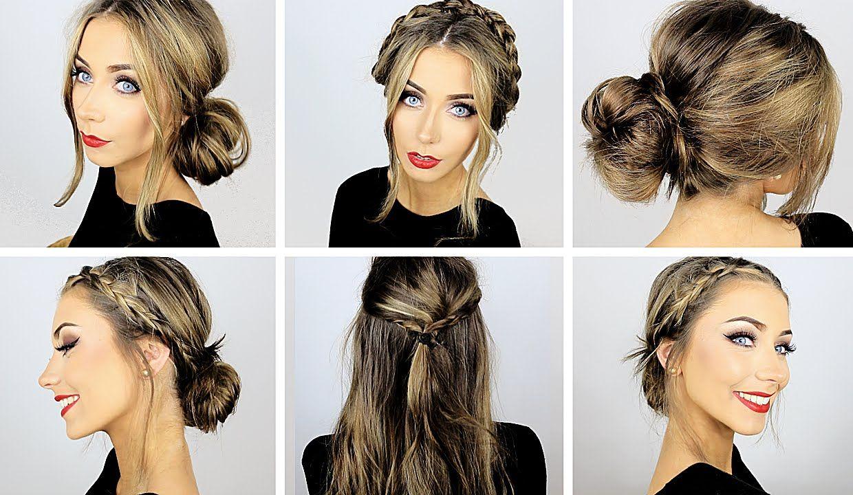5 easy heatless hairstyles for work & school ♡ danielle