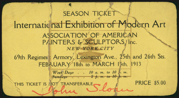 February 17: Marks the 200th anniversary of the 1913 Armory Show, the first large scale exhibition of modern art held in New York City's 69th Regiment Armory.