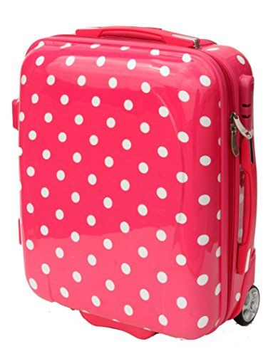 Ladies Hard Shell On Board Travel Cabin Case 50x40x20cm (Pink ...