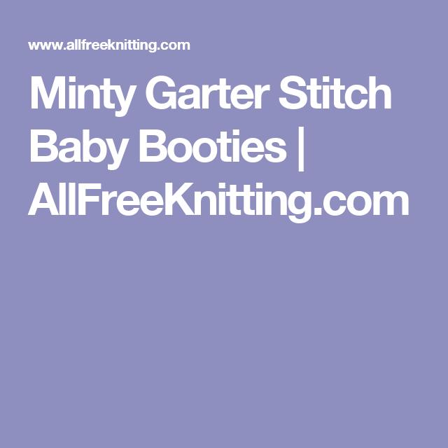 838e5b429e4d Minty Garter Stitch Baby Booties