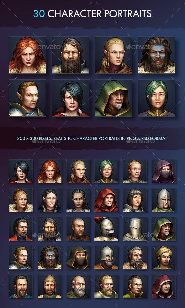 Character Avatar Icons - Fantasy