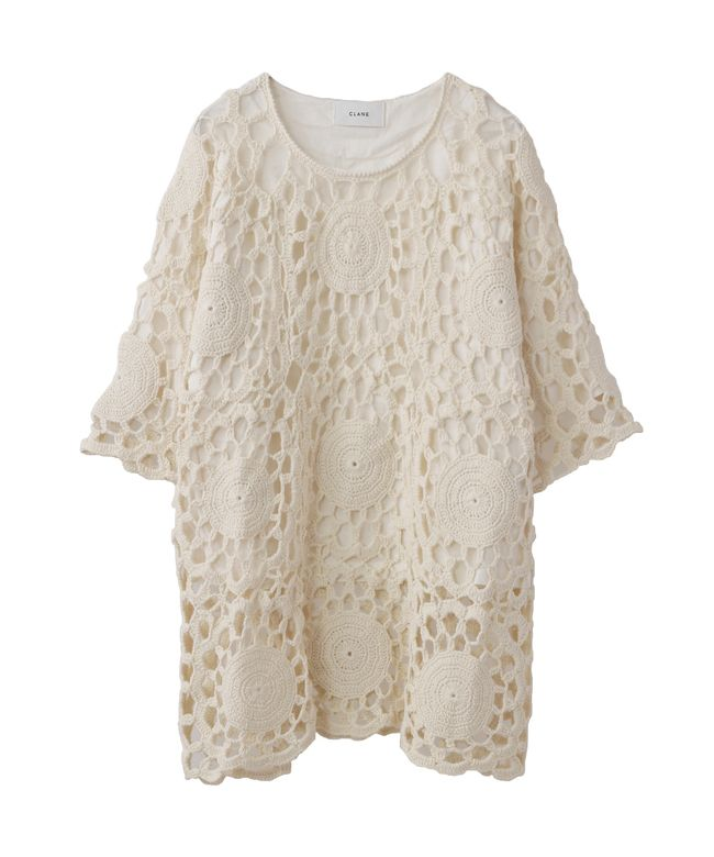 BIG FLOWER CROCHET KNIT|CLANE|CLANE OFFICIAL ONLINE STORE